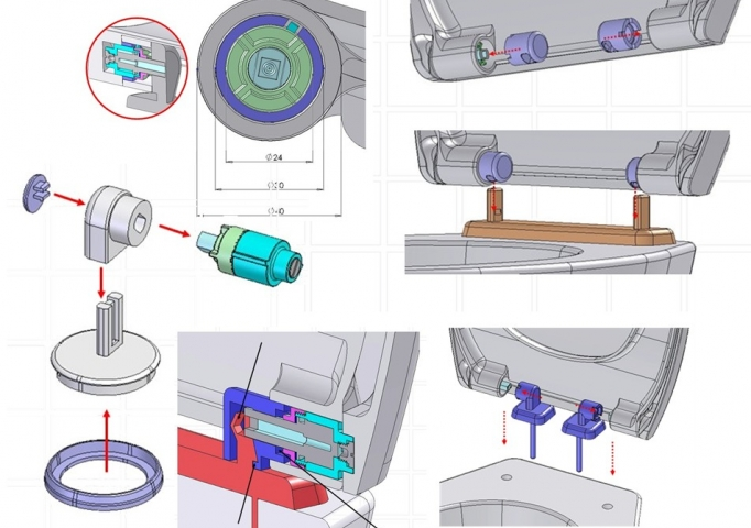 parts of a toilet system. removable toilet seat design I mechanical phase Removable lid  Quntz